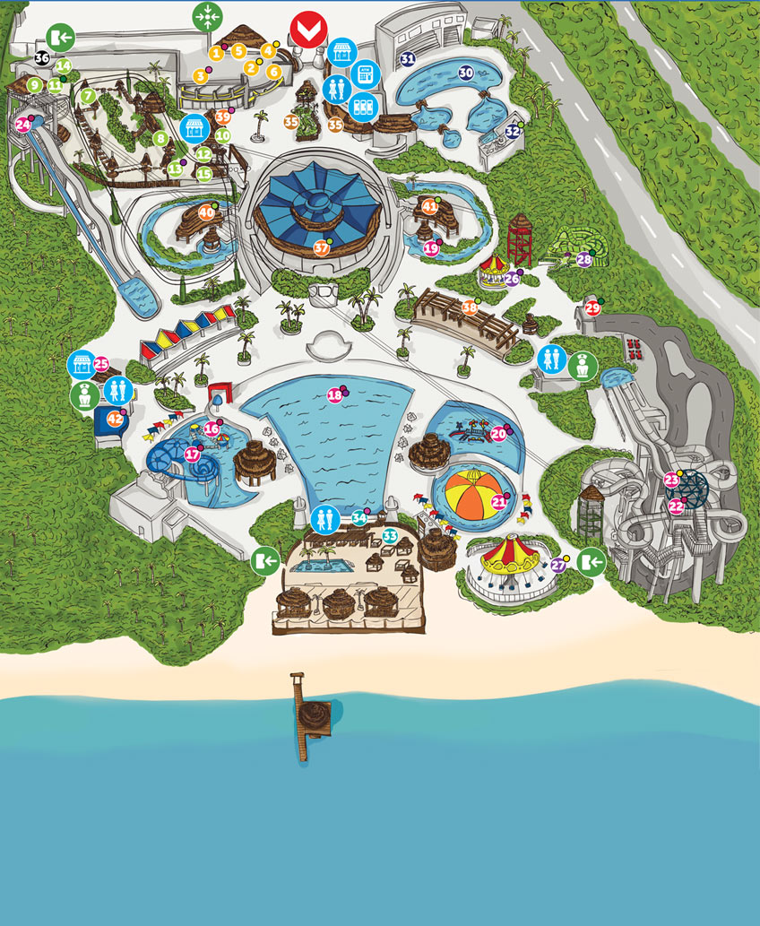 Ventura Park Cancun Contact Us LocationMap Feedback Phone - Map of amusement parks in the us