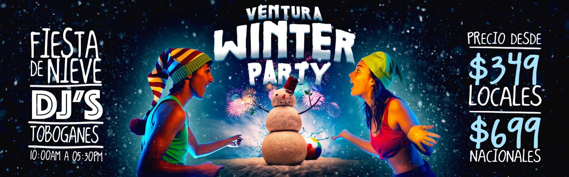 Ventura Winter Party - Fiesta de Nieve en Ventura Park El Mejor Parque Acuático y de Atracciones en Cancún