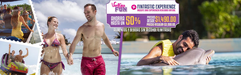 Entrada Ventura Fun Más Experiencia de Nado con delfines Fintastic