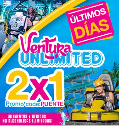 Ultimos dias promocion 2x1 Ventura unlimited.