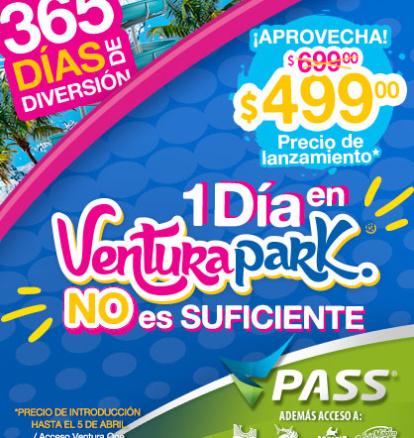 ¡Compra ahora tu VPass el nuevo pase Anual de Ventura Park Cancún!