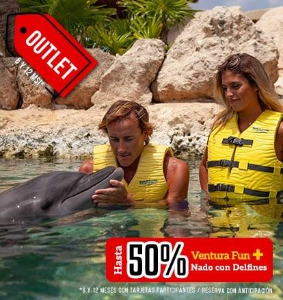Outlet Ventura Park más nado con delfines con hasta un 50% de descuento.