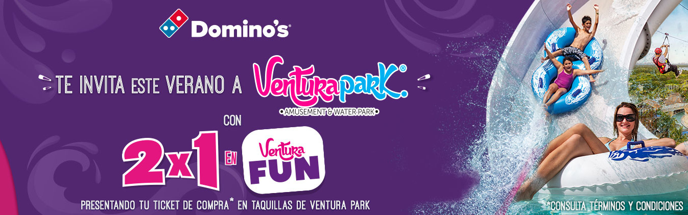 Compra Ventura Fun y recibe otro igual con tu ticket de Domino's