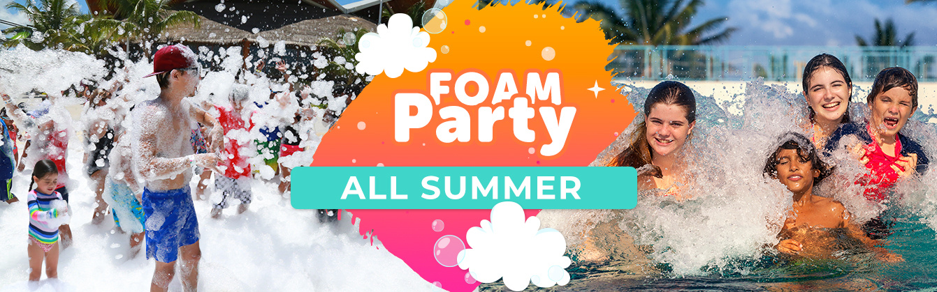 Enjoy the best summer with the Ventura Park foam party.